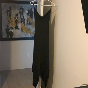 Asymmetrical backless black Bebe dress